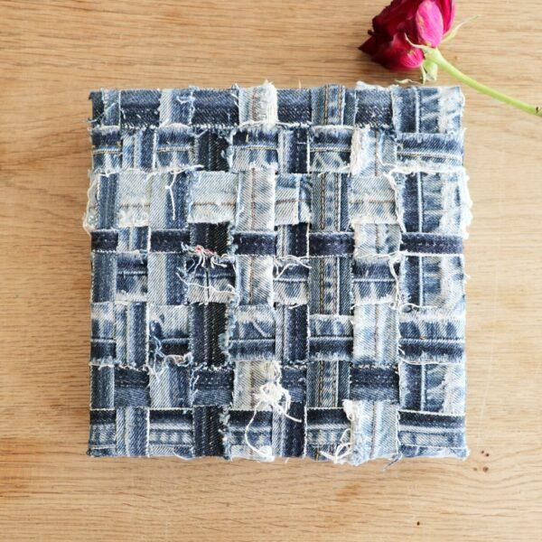 Textiel schilderij Diepe verbondenheid - Marloes van Zoelen
