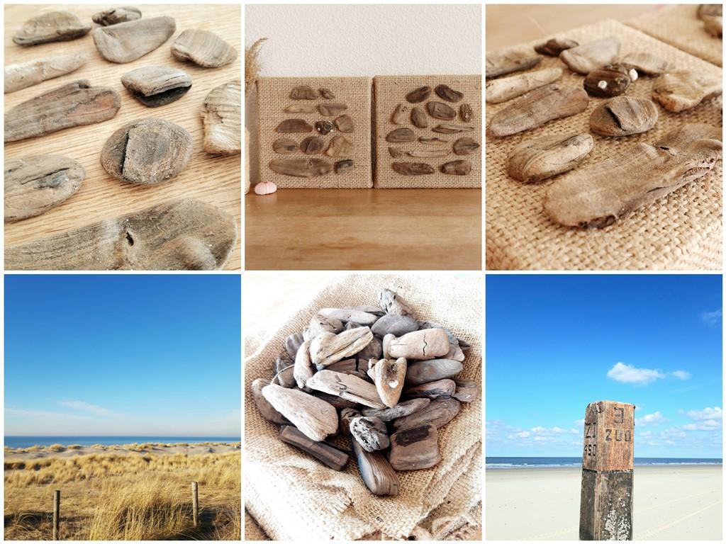 Drijfhout kunst - Zee van geluk - Marloes van Zoelen - Sfeercollage II