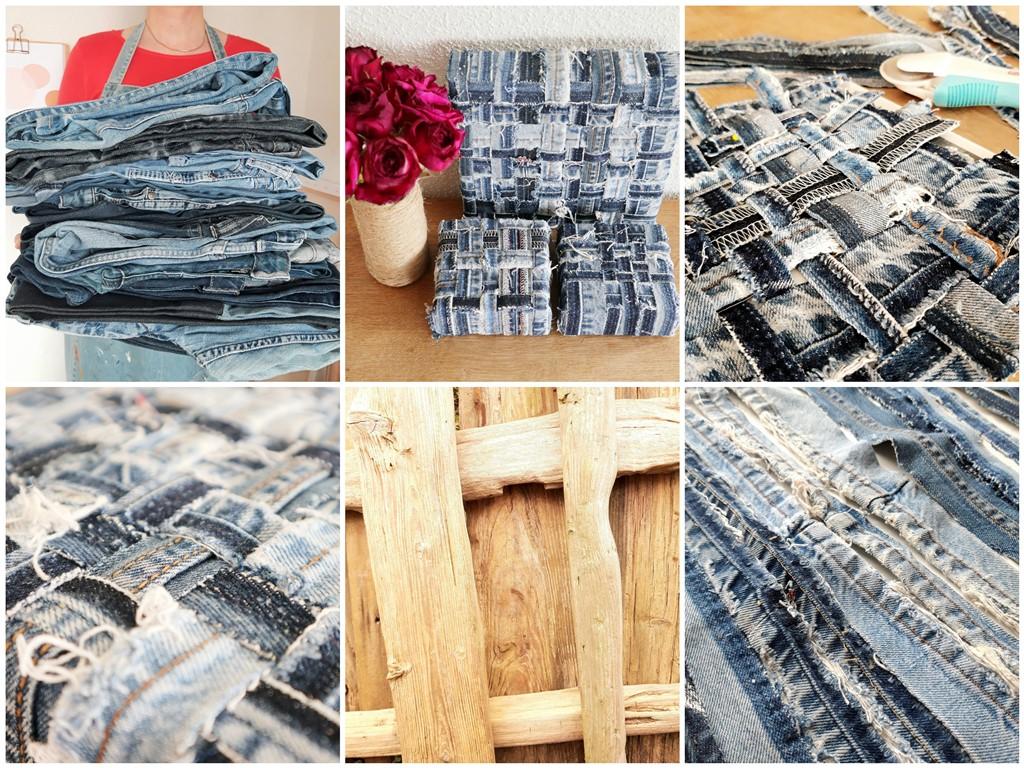 Jeans schilderijen - Verbondenheid - Marloes van Zoelen - Sfeercollage