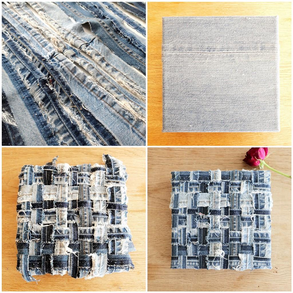 Textiel schilderij Diepe verbondenheid - Making of