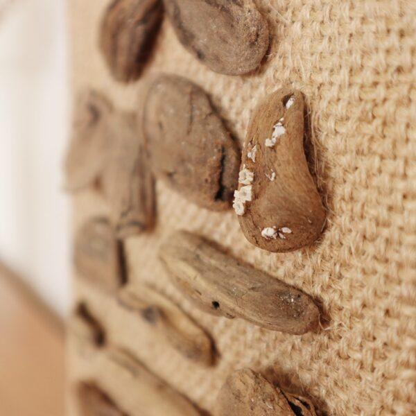 Drijfhout kunst - Zee van geluk - Detail - Marloes van Zoelen