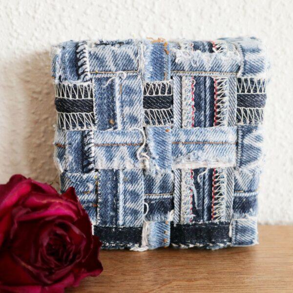 Jeans schilderij Innig verbonden I - Marloes van Zoelen