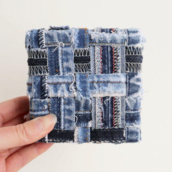 Jeans schilderij - Innig verbonden I - Marloes van Zoelen