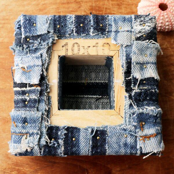 Schilderij met lapjes stof - Innig verbonden - Achterzijde - Marloes van Zoelen