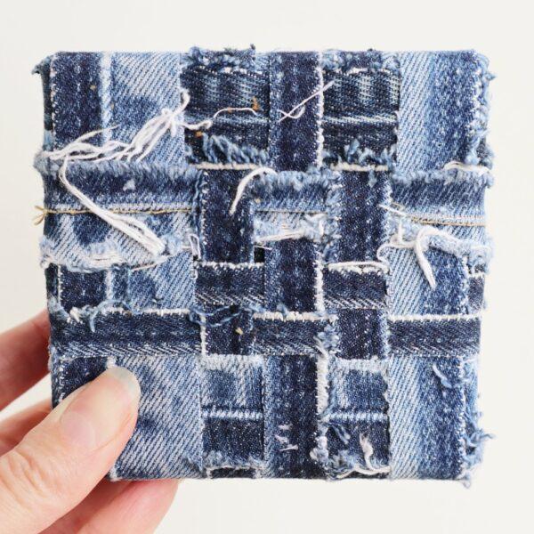 Schilderij met lapjes stof - Innig verbonden - Marloes van Zoelen