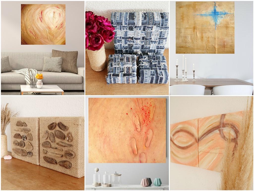 Abstracte schilderijen met structuur - Marloes van Zoelen