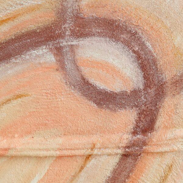 Detail uit tweeluik schilderij Samen verbonden - Marloes van Zoelen