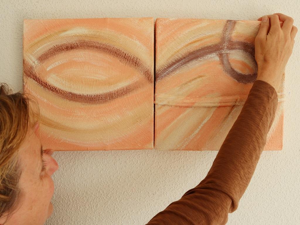 Tweeluik schilderij Samen verbonden - Marloes van Zoelen